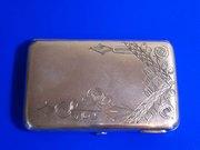Продаётся серебряный портсигар царского периода.Россия.84 проба